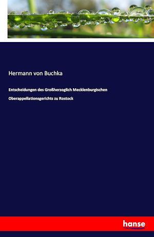 Bog, paperback Entscheidungen Des Groherzoglich Mecklenburgischen Oberappellationsgerichts Zu Rostock af Hermann Von Buchka