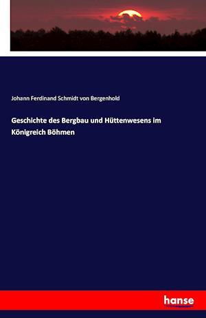 Bog, paperback Geschichte Des Bergbau Und Huttenwesens Im Konigreich Bohmen af Johann Ferdinand Schmidt Von Bergenhold