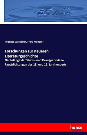 Bog, paperback Forschungen Zur Neueren Literaturgeschichte af Roderich Warkentin
