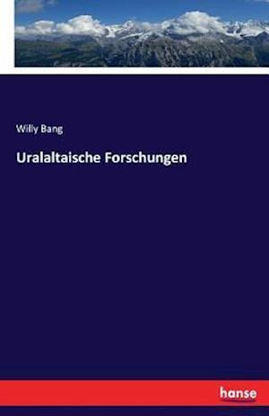 Bog, paperback Uralaltaische Forschungen af Willy Bang