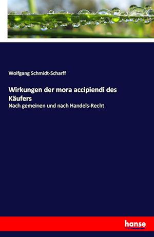 Bog, paperback Wirkungen Der Mora Accipiendi Des Kaufers af Wolfgang Schmidt-Scharff
