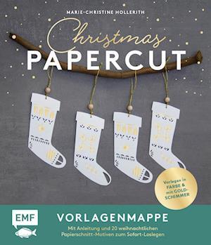 Set: Christmas Papercut - Die Vorlagenmappe mit Anleitung und 20 weihnachtlichen Papierschnitt-Motiven zum Sofort-Loslegen