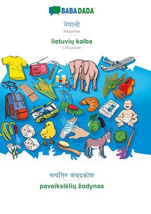 BABADADA, Nepalese (in devanagari script) - lietuviu kalba, visual dictionary (in devanagari script) - paveiksleliu zodynas