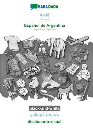 BABADADA black-and-white, Punjabi (in gurmukhi script) - Español de Argentina, visual dictionary (in gurmukhi script) - diccionario visual