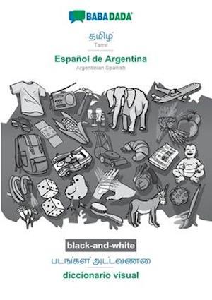 BABADADA black-and-white, Tamil (in tamil script) - Español de Argentina, visual dictionary (in tamil script) - diccionario visual