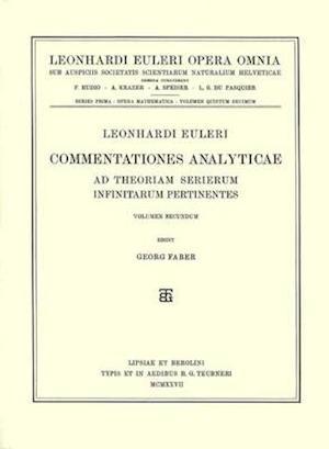 Commentationes analyticae ad theoriam serierum infinitarum pertinentes 2nd part
