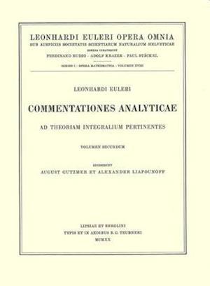Commentationes analyticae ad theoriam integralium ellipticorum pertinentes 2nd part