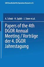 Vortrage der Jahrestagung 1974 DGOR Papers of the Annual Meeting (Operations Research Proceedings)
