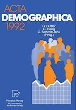 Acta Demographica 1992 (ACTA Demographica, nr. 1992)