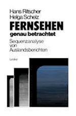 Fernsehen Genau Betrachtet af Hans Ritscher