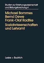 Sozialwissenschaften Und Lehramt
