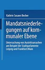 Mandatsniederlegungen Auf Kommunaler Ebene af Kathrin Susann Becher, Kathrin Susann Becher
