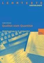 Qualitat Statt Quantitat