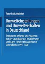 Umwelteinstellungen Und Umweltverhalten in Deutschland af Peter Preisendorfer