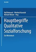 Hauptbegriffe Qualitative Sozialforschung