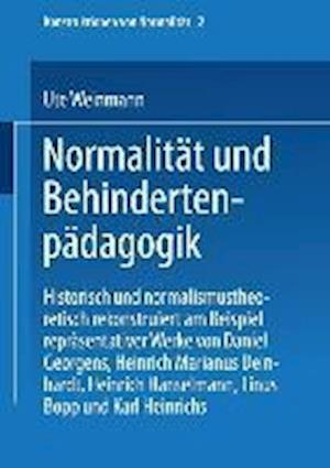 Bog, paperback Normalitat Und Behindertenpadagogik af Ute Weinmann, Ute Weinmann