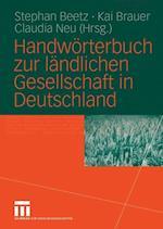 Handwörterbuch Zur Ländlichen Gesellschaft in Deutschland
