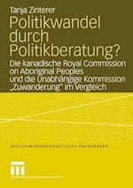 Politikwandel Durch Politikberatung? af Tanja Zinterer, Tanja Zinterer