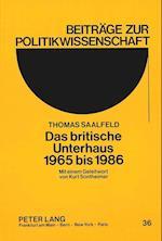 Das Britische Unterhaus 1965 Bis 1986