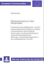 Mesokorporatismus in Den Niederlanden af Ralf Kleinfeld