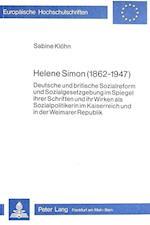 Helene Simon (1862-1947) (Europaeische Hochschulschriften European University Studie, nr. 171)
