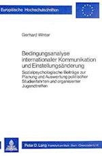 Bedingungsanalyse Internationaler Kommunikation Und Einstellungsaenderung