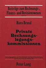 Private Rechnungslegungskommissionen af Hans Brand