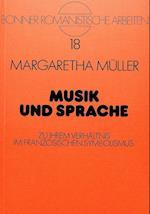 Musik Und Sprache (Bonner Romanistische Arbeiten, nr. 18)