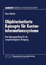 Objektorientierte Konzepte Für Kosteninformationssysteme