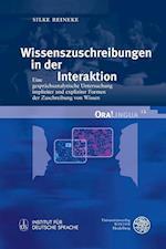 Wissenszuschreibungen in Der Interaktion (Oralingua, nr. 12)