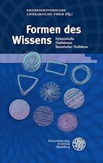Formen Des Wissens (Beitrage Zur Neueren Literaturgeschichte, nr. 360)