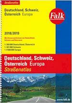 Deutschland, Österreich, Schweiz, Falk Strassenatlas 2018/2019