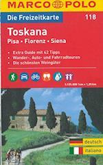 Toscana, Pisa, Firenze, Siena*, Marco Polo Freizeitkarte 118 (Marco Polo Freizeitkarte, nr. 118)