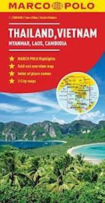 Thailand, Vietnam, Laos, Cambodia Marco Polo Map af Marco Polo