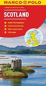 Scotland & Northern England Map (Marco Polo Maps)