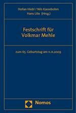 Festschrift Fur Volkmar Mehle