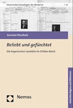 Beliebt Und Gefurchtet (Historische Grundlagen Der Moderne, nr. 8)