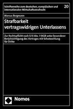 Strafbarkeit Vertragswidrigen Unterlassens (Schriftenreihe Zum Deutschen Europaischen Und International, nr. 20)