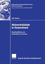 Aktienrückkäufe in Deutschland (Empirische Finanzmarktforschung / Empirical Finance)