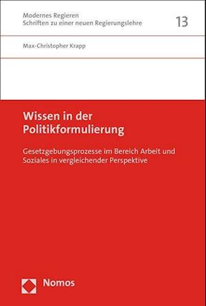 Bog, paperback Wissen in Der Politikformulierung af Max-Christopher Krapp
