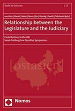Relationship Between the Legislature and the Judiciary (Recht in Ostasien, nr. 17)