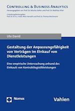 Gestaltung Der Anpassungsfahigkeit Von Vertragen Im Einkauf Von Dienstleistungen (Controlling Business Analytics)