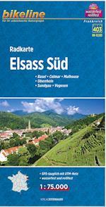 Elsass Süd, Radkarte* : Basel, Colmar, Mulhouse, Oberrhein, Sundgau, Vogesen, Blad 403 (Bikeline, nr. 03)