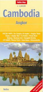 Cambodia Angkor, Nelles Map af Nelles Verlag