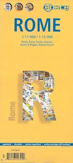 Rome (lamineret), Borch City Map 1:11.000/1:15.000 (Borch City Maps)