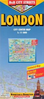 London (lamineret), Borch map 1:11.000/15.000 (Borch City Maps)
