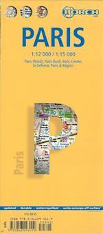 Paris (lamineret), Borch City Map 1:12.000/1:15.000 (Borch City Maps)