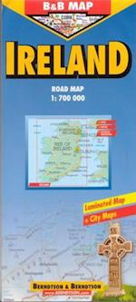 Ireland (lamineret), Borch Map 1:700.000 (Borch Country Map)