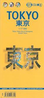 Tokyo, Borch City Map (plastlamineret) 1:17.000 (Borch City Maps)