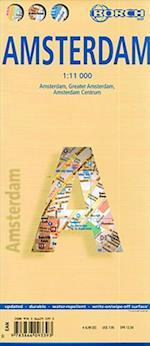 Amsterdam, Borch City Map (lamineret) 1:11.000 (Borch City Maps)